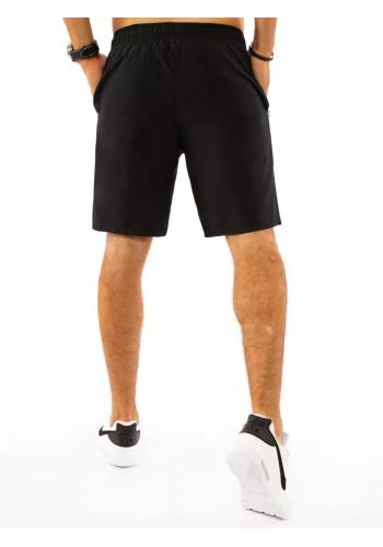 Černé krátké teplákové kraťasy pro pány