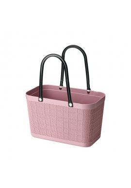 Růžový letní nákupní košík