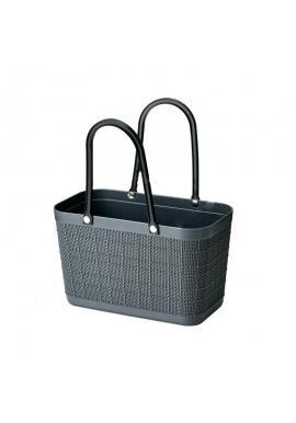 Letní nákupní košík v tmavě šedé barvě