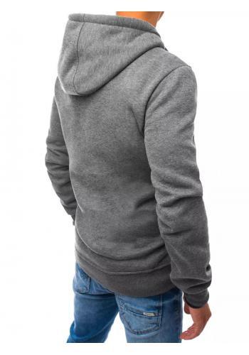 Módní pánská mikina tmavě šedé barvy s potiskem