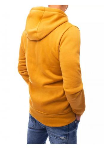 Sportovní pánská mikina žluté barvy s potiskem