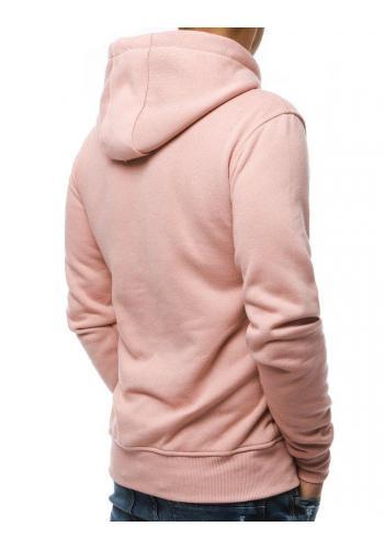 Růžová pánská mikina s kapucí pro pány