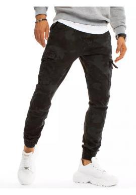 Maskáčové pánské kapsáče tmavě šedé barvy