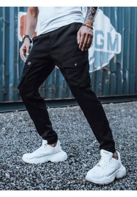Černé stylové Joggery s cargo kapsami pro pány