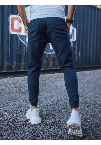 Stylové pánské Joggery tmavě modré barvy s cargo kapsami