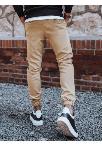 Béžové módní Joggery s gumou v pase pro pány