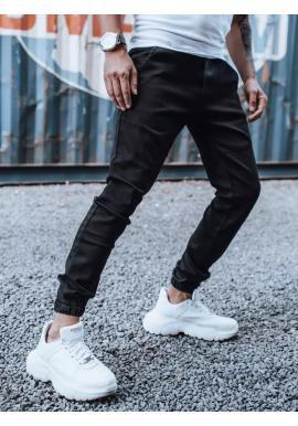 Módní pánské Joggery černé barvy s gumou v pase