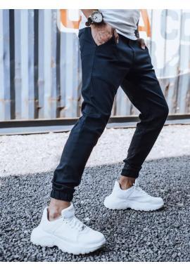 Pánské módní Joggery s gumou v pase v tmavě modré barvě