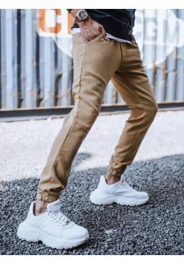 Hnědé módní Joggery s gumou v pase pro pány
