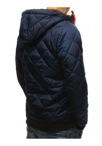 Tmavě modrá přechodná bunda s prošíváním pro pány
