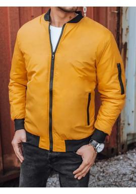 Žlutá bomber bunda na podzim pro pány