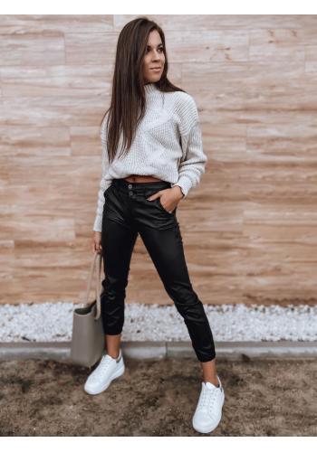 Černé voskované kalhoty pro dámy