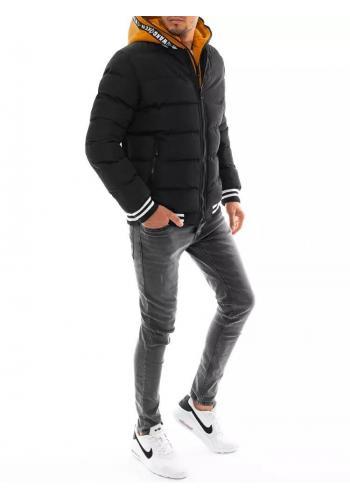 Černá zimní bunda s prošíváním pro pány