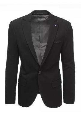 Jednořadé pánské sako černé barvy v neformálním stylu
