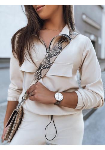 Dámská módní souprava v béžové barvě