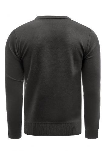 Klasický pánský svetr černé barvy s véčkovým výstřihem