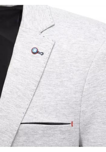 Pánské jednořadé sako v neformálním stylu v šedé barvě