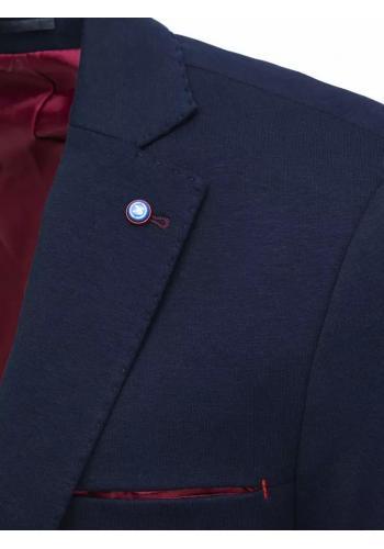 Tmavě modré jednořadé sako v neformálním stylu pro pány