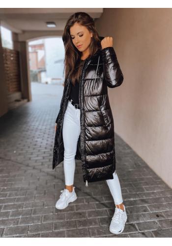 Černá dlouhá bunda na zimu pro dámy