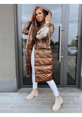 Hnědá zimní bunda s třemi délkami pro dámy
