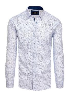 Bílá elegantní košile se vzorem pro pány