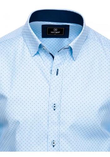 Pánská elegantní košile se vzorem v světle modré barvě