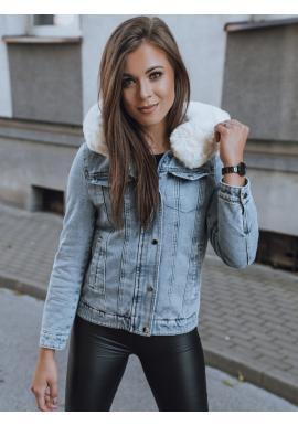 Oboustranná dámská bunda světle modré barvy s kapucí