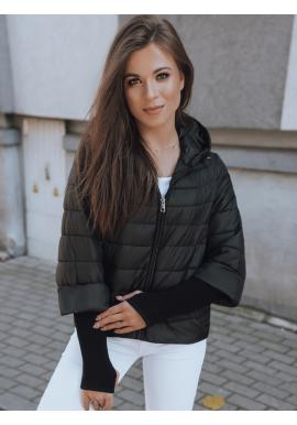 Černá asymetrická bunda s originálními rukávy pro dámy