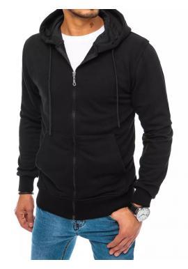 Pánské zapínány mikiny s kapucí v černé barvě