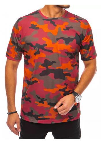 Maskáčové pánské tričko oranžové barvy s krátkým rukávem