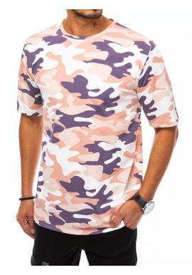 Pánské maskáčové tričko s krátkým rukávem v béžové barvě