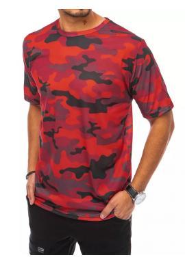 Červené maskáčové tričko s krátkým rukávem pro pány