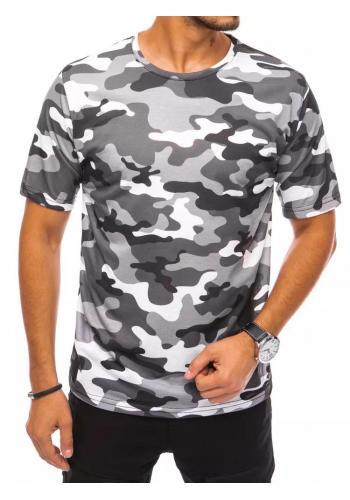 Světle šedé maskáčové tričko s krátkým rukávem pro pány