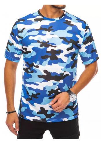 Maskáčové pánské tričko světle modré barvy s krátkým rukávem