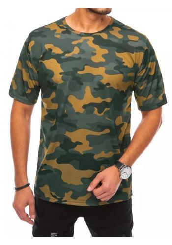 Pánské maskáčové trička s krátkým rukávem v khaki barvě