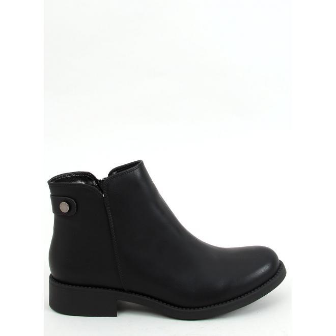 Klasické dámské kotníkové boty černé barvy