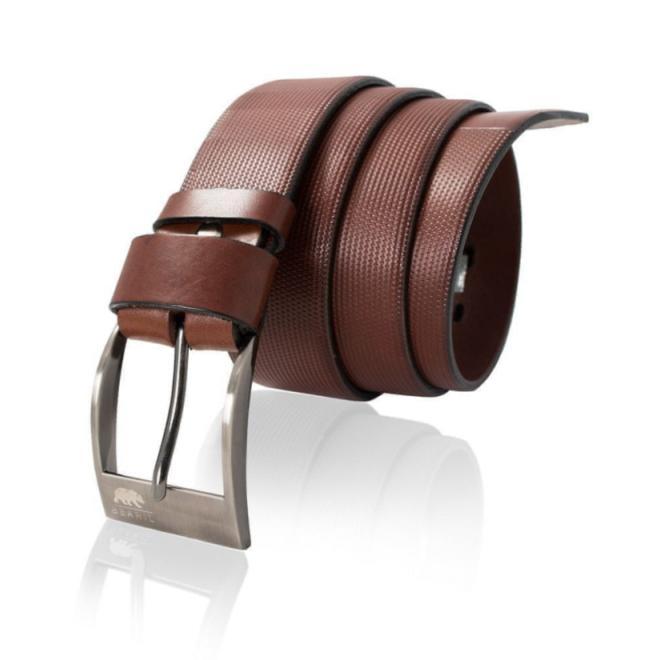 Hnědý kožený pásek pro pány - San Carlos