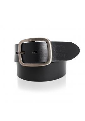 Černý kožený pásek pro dámy