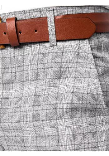 Elegantní pánské kalhoty světle šedé barvy se vzorem
