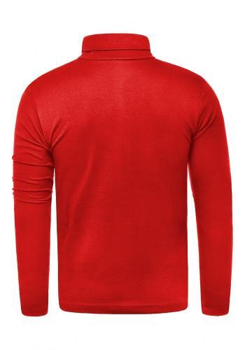 Pánský klasický bavlněný rolák v červené barvě