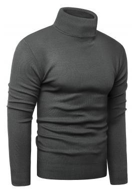 Podzimní pánský rolák tmavě šedé barvy