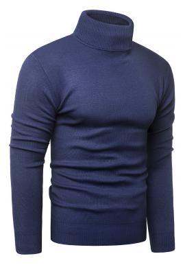 Pánské podzimní roláky v tmavě modré barvě