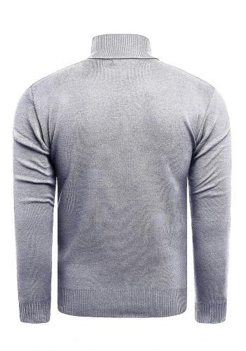 Módní pánský rolák šedé barvy se vzorem
