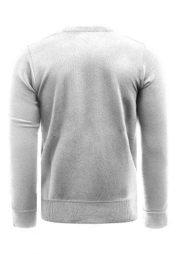 Šedý klasický svetr se vzorem pro pány