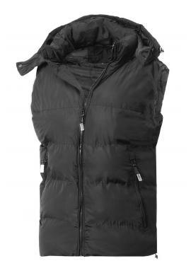 Černá oteplená vesta s kapucí pro pány