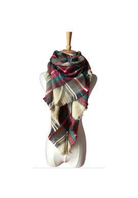 Dámský barevný károvaný šátek