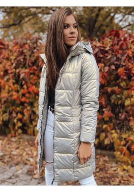 Šedá prošívaná bunda s odepínací kapucí pro dámy