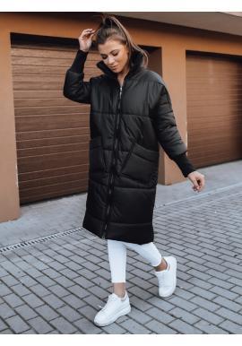Prošívaná dámská oversize bunda černé barvy