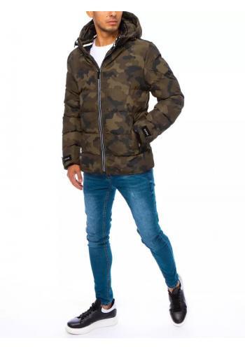 Maskáčová pánská bunda khaki barvy na zimu