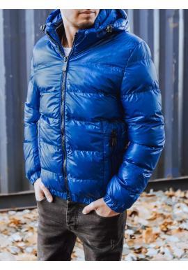 Světle modrá zimní bunda s odepínací kapucí pro pány